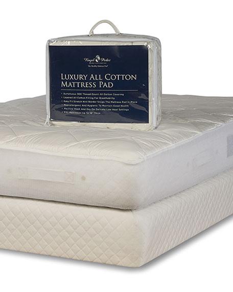 Luxury All Cotton Mattress Pad - California King