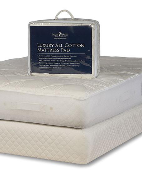 Luxury All Cotton Mattress Pad - Queen