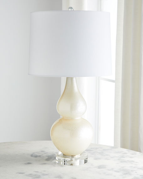 Pearlized Glass Table Lamp