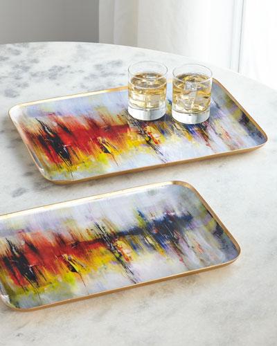 Artsy Trays  Set of 2