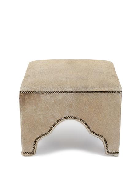 Stefania Leather Ottoman