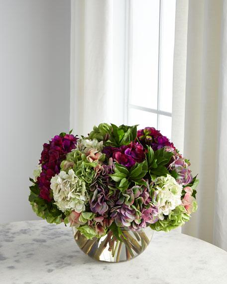 Hydrangea Purple & Green Florals