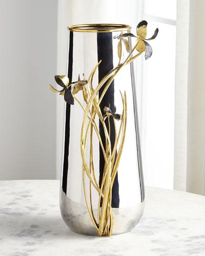 Black Iris Centerpiece Vase