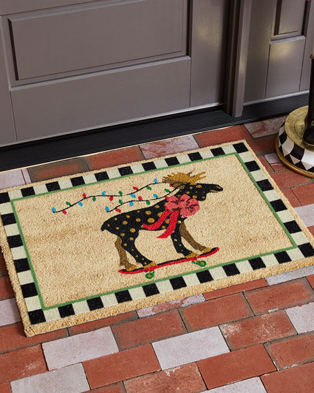 MacKenzie-Childs Moose On Parade Entrance Mat