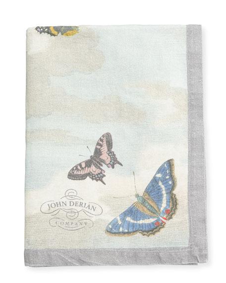 Mirrored Butterflies Sky Throw
