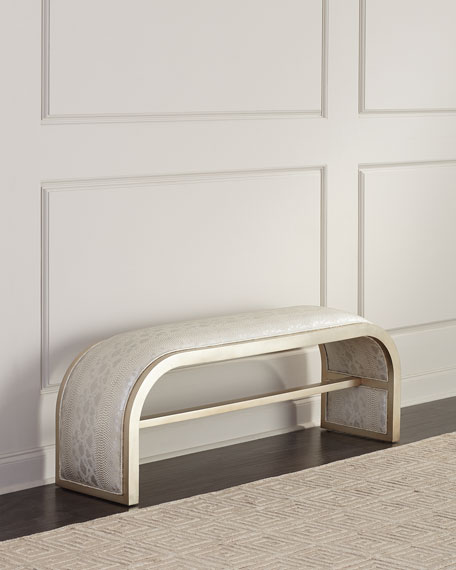 John-Richard Collection Aintree Curved Bench
