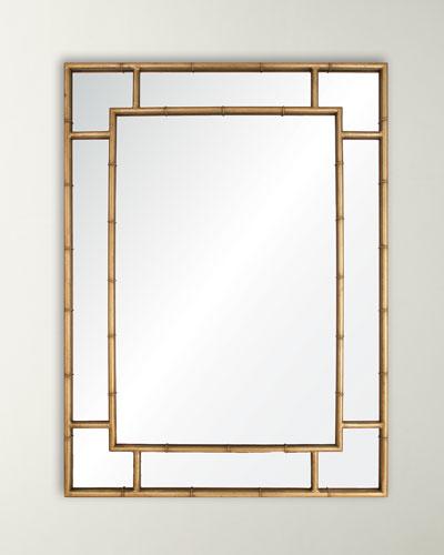 Gold Leaf Iron Mirror
