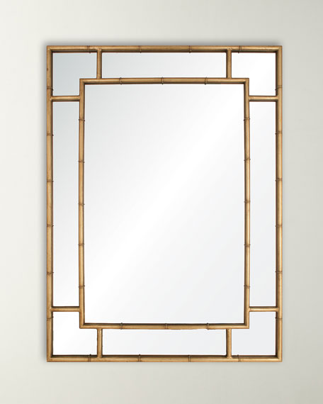 Gold Leaf Iron Mirror
