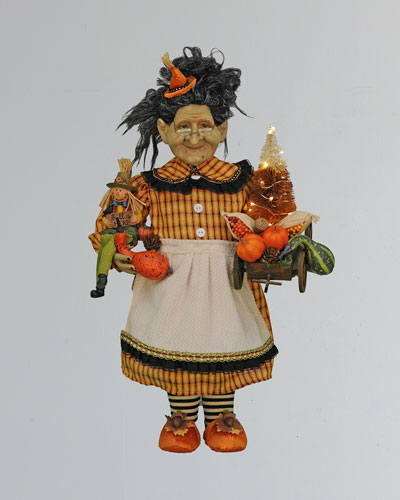 Lighted Fall Harvest Witch
