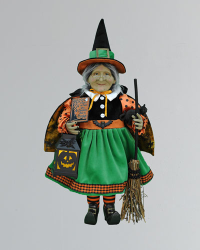 Lighted Pumpkin Glow Witch