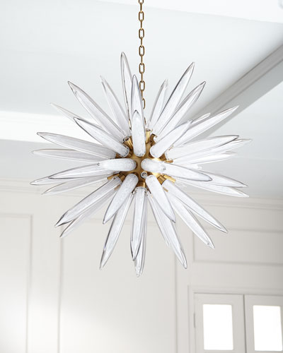 Hand-Blown 16-Light Glass Pendant