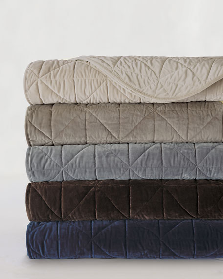 Nova Queen Quilted Velvet Coverlet