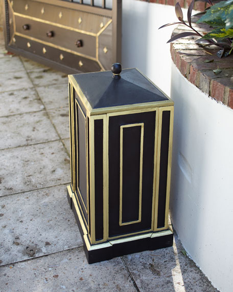 Black Avery Trash Receptacle