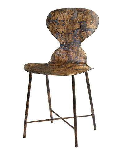 Mildred Acid Washed Metal Chair