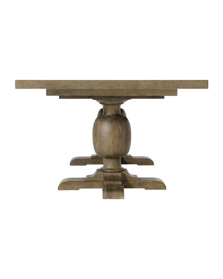 Rustic Patina Double Pedestal Dining Table