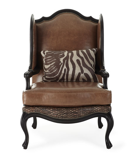 Lettsworth Leather Wing Chair