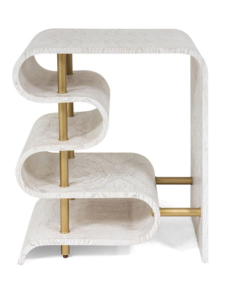 Traverse White Side Table