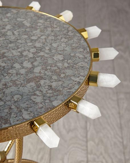 Lola Quartz Brass Table