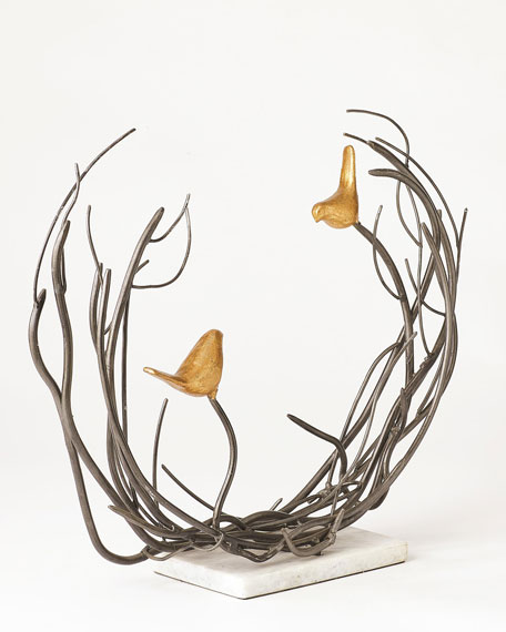 Bird Family in Thicket Sculpture