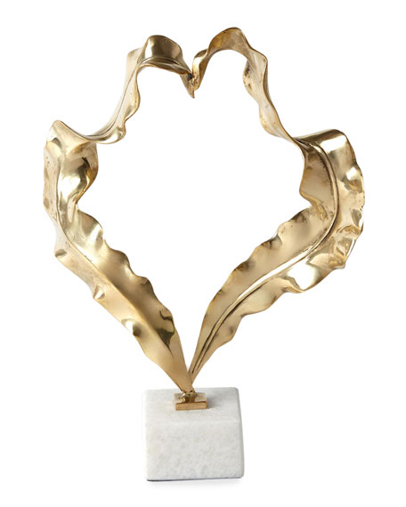Large Brass Leaf Sculpture