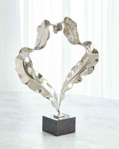 Large Nickel Leaf Sculpture