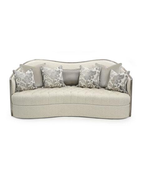 "Milano Button Tufted Sofa, 90"""