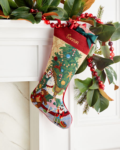 Needlepoint Toys Stocking, Personalized