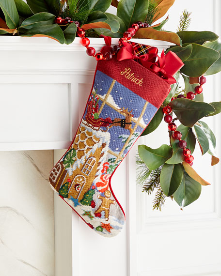 Needlepoint Goodies Stocking, Personalized