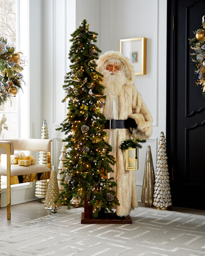 Golden Opulence Santa with Lighted Tree  57