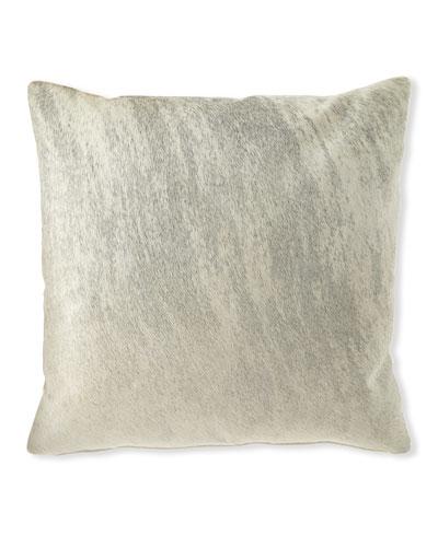 Brindle Hair Hide Gray Pillow  22Sq.