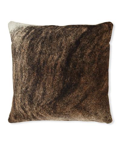 Brindle Hair Hide Brown Pillow  22Sq.