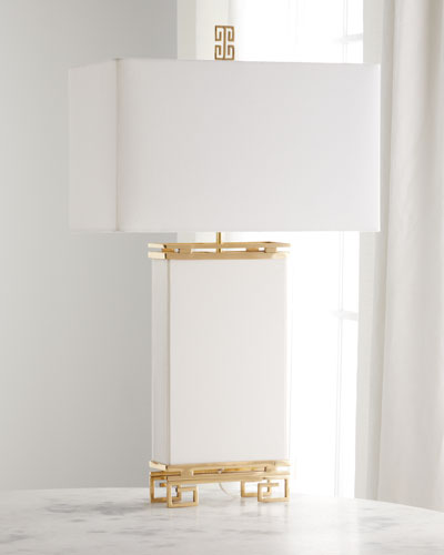 Ivory Brass Table Lamp