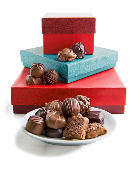 Stacked Boxes of Chocolate
