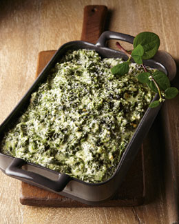 Smoked Gouda Creamed Spinach