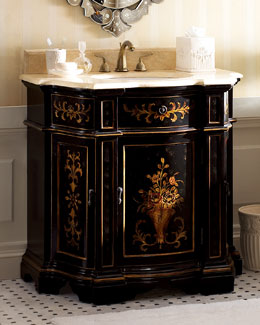 Ebony Floral Chest with Sink
