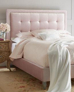 Callista Pink Velvet Beds