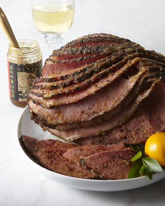 Hickory-Smoked Peppered Ham
