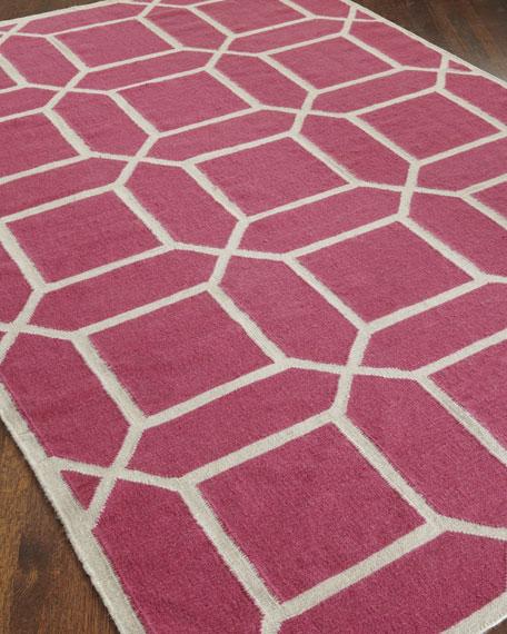 Octagonal Maze Flatweave Rug, 8' x 11'