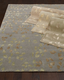 """Tufted Leaves"" Rug"