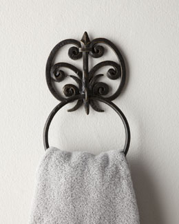 "Burnished Gold ""Fleur-De-Lis"" Bath Decor"