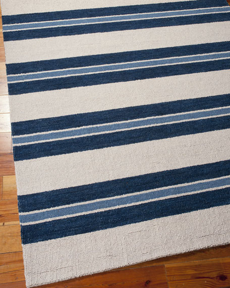 "Harbour Stripe Rug, 7'9"" x 10'10"""