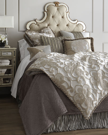 King Pure Pewter Medallion Duvet Cover