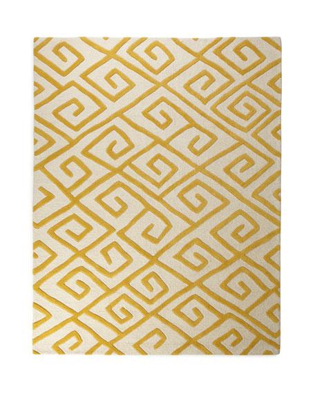 Greek-Key Maze Rug, 6' x 9'
