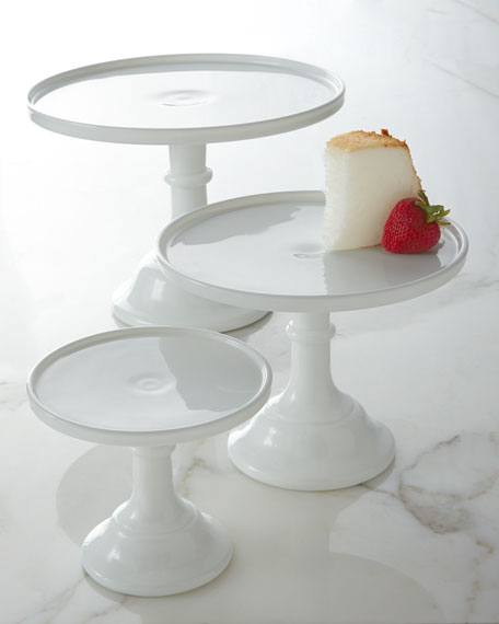 "6"" Milk-Glass Pedestal Server"