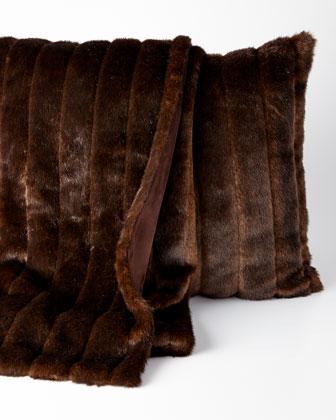 Sable Faux-Fur Throw & Pillow