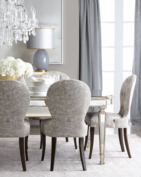 John-Richard Collection Cara Dining Chair & Eliza Antiqued ...