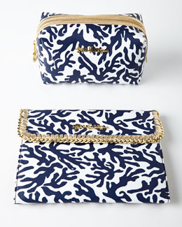Navy Trunk Show Cosmetics Case & iPad Case