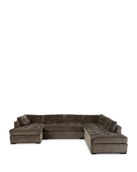 """McLain Gray 3-Piece Left-Side Chaise Sectional 136.5"""""""
