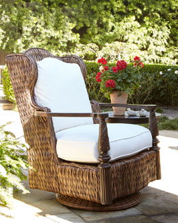 Royal Plantation Outdoor Swivel Glider Chair, Armchair, & Ottoman