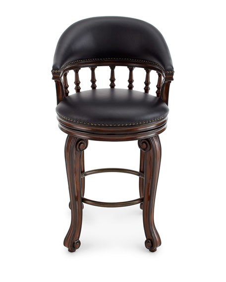 Alexander Swivel Leather Barstool